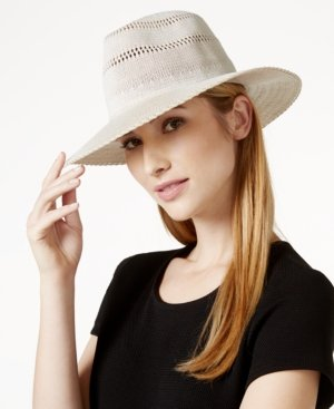 Collection XIIX Open Weave Panama Hat Ivory ONE SIZE