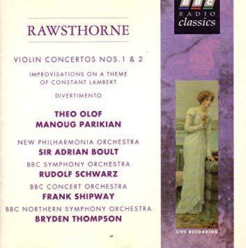 Rawsthorne: Violin Concertos Nos. Japan's largest assortment 1 on Super special price Improvisations The a 2;