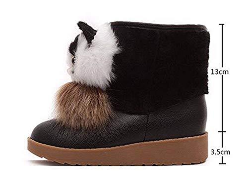 Zapatos Invierno' 37 algodón Dibujos de de SED de Eu Mujer Grueso Gato 'S Boots Gruesos un de Grueso Animados Botas USTqA7