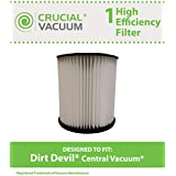 7-Inch Filter for Dirt Devil Central Vacuums; Compare to Dirt Devil Part No. 8106-01; Designed & Engineered by Think Crucial