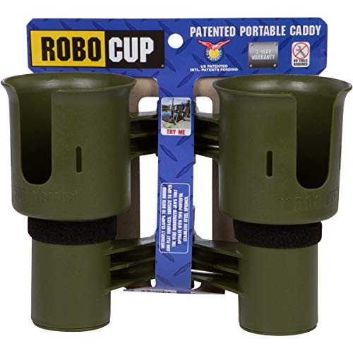 - ROBOCUP, Olive, Updated Version, Best Cup Holder for Drinks, Fishing Rod/Pole, Boat, Beach Chair/Golf Cart/Wheelchair/Walker/Drum Sticks