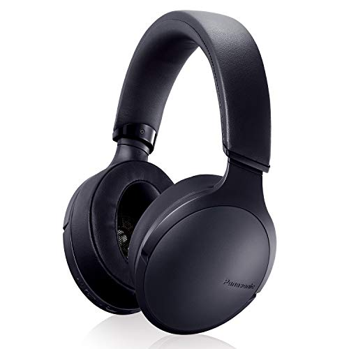 Panasonic Premium Hi-Res Wireless Bluetooth Over The Ear Headphones with 3D Ear Pads and 3 Sound Modes – RP-HD305B-K (Black)
