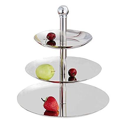 Frutero de acero inoxidable bandeja de fruta (3 pisos sede ...