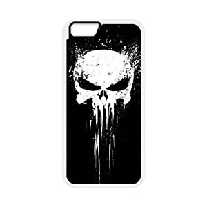 iPhone 6 Plus 5.5 Inch Cell Phone Case White Bloody The Punisher Skull Logo gift E5651904