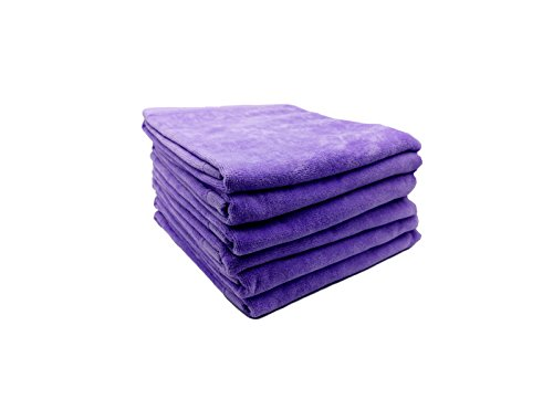 Lavender Velour - RobeSale Cotton Velour Towels for Hand, Lavender, Set of 6