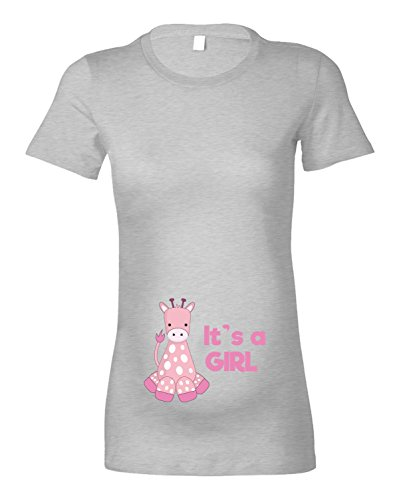 Beyondsome - Camiseta - para mujer Heather Grey / Baby Pink Text