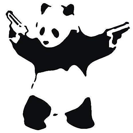 Panda Waffen Pandamonium XS// 11X11CM Banksy Schablone Wiederverwendbar Wohndeko /& Kunst Handwerk Malerei Schablone semi-transparent Schablone