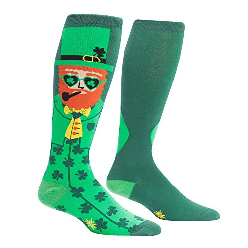 (Sock It to Me, Unisex Men and Womens' Stretch-It Knee-High Socks: Your Lucky Charm - Green - One Size Fits Most)