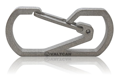 Valtcan Titanium Carabiner Key Holder Anti-lost Quick Release Men's Keychain Hook Ti Easy Carry by Valtcan