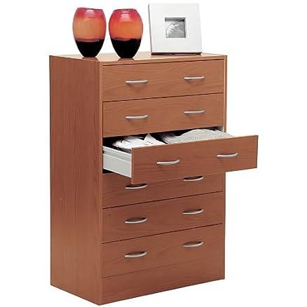 Comò cassettiera settimino kit moderno legno ciliegio CT6302 ...