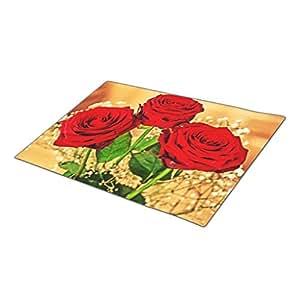 Herlena Red Roses Decorative Door Mats Cute Outdoor Doormats