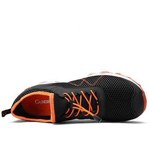 Scarpe Da Uomo Acqua Mesh Quick-dry Anfibio Calzature Leggere Acqua Walking Shoe Nero
