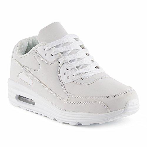 Sportschuhe w Dämpfung Laufschuhe Damen Herren Weiss Sneaker Fivesix qwZxgE7OS