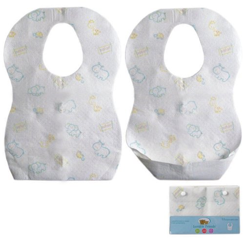 Luvable Friends Disposable Bibs, White, 12-Count