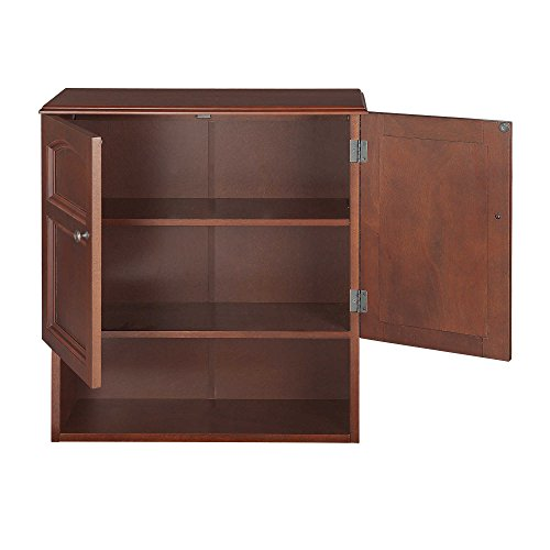 Elegant Home Fashions Collection 2-Door Wall Cabinet, Mahogany Wood Veneer Finish by Elegant Home Fashions (Image #1)
