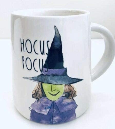 Rae Dunn Inspired Hocus Pocus and Witches Brew Mug Set Halloween Coffee Cups