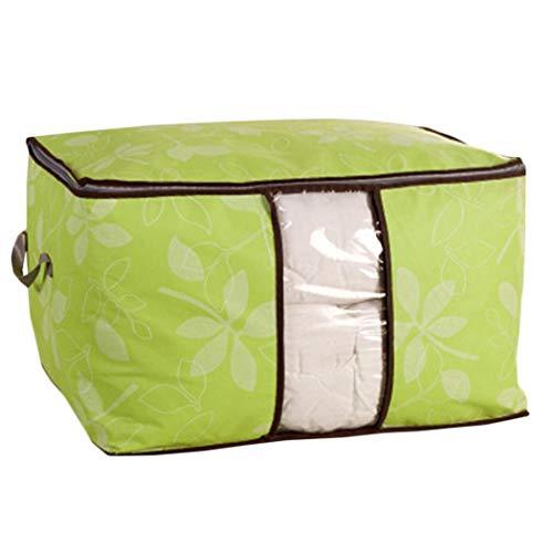 Queind Foldable Storage Bag Space Saving Blanket Pillow Quilt Closet Organizer Box Space Saver Bags