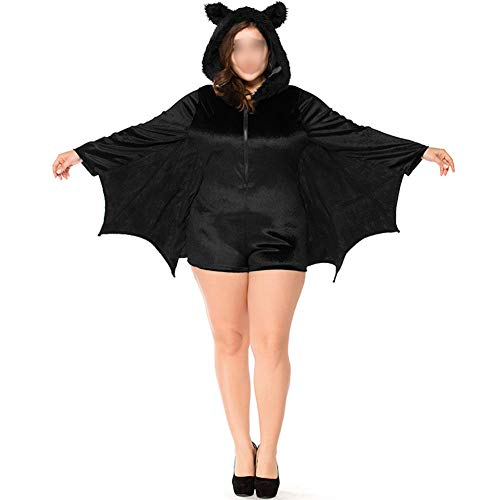 Janjunsi Halloween Costumes - Child Adult Cozy Bat Jumpsuit Vampire Cosplay Costume Girls Women Family Party