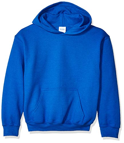 Gildan Kids' Big Hooded Youth Sweatshirt, Royal, Medium