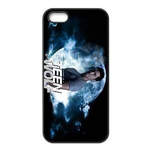 Teen Wolf 005 funda iPhone 5 5S Negro de la cubierta del teléfono celular de la cubierta del caso funda EVAXLKNBC18164