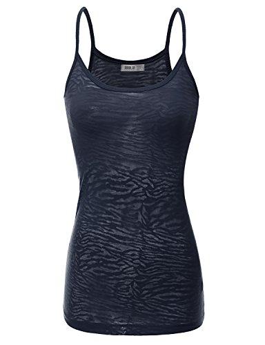 Doublju Women Solid Color Inner Lace SweatShirt Dallas NAVY Crop Top,L