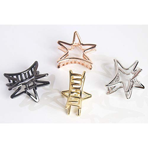 Weimay Hairpin Five-Pointed Star Shape Ponytail Clip Hollow Alloy Women Hairpin Hair Accessories by Weimay (Image #6)