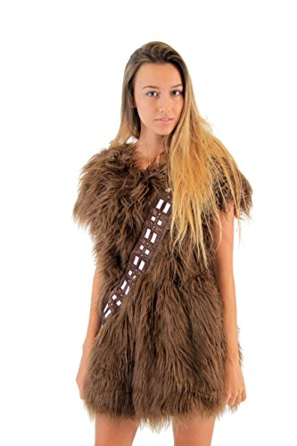 Star Wars I Am Furry Chewbacca Chewie Brown Skater Dress Costume (Juniors Medium) (Star Wars Chewbacca Costume)