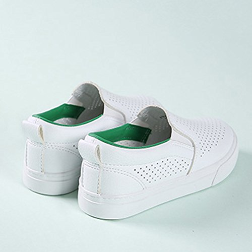 InStar Kids' Breathable Hollow Out Round Toe Low Top Slip On Loafers Shoes Green 1.5 M US Little Kid by SFNLD (Image #3)