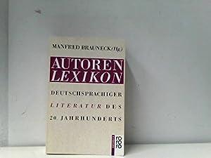 Perfect Paperback Autorenlexikon deutschsprachiger Literatur des 20. Jahrhunderts (Rororo Handbuch) (German Edition) [German] Book