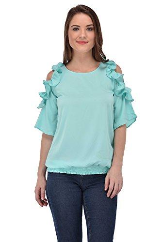 Femninora Women #39;S Light Blue Tops