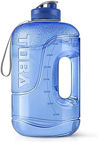 1 Gallon Water Bottle with Time Marker –...