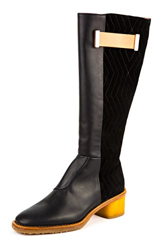 Neosens - Zapatos de cordones de Piel Lisa para mujer negro negro 37
