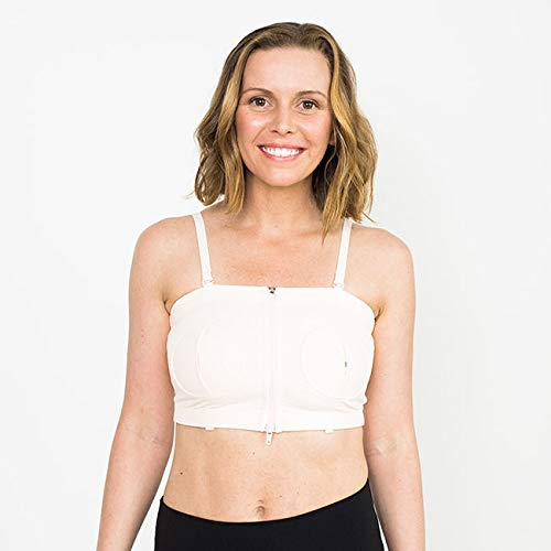 Simple Wishes Signature Hands Free Pumping Bra, Patented, Pink, X-Small - Large ()