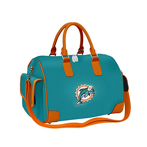 NFL Miami Dolphins Women's Deluxe Handbag with Embroidered Logo by Little - Little Handbag Earth Womens