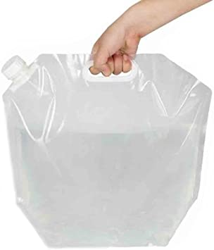 5L PE Free Collapsible Camping Emergency Water Storage Container Carrier Bag SD