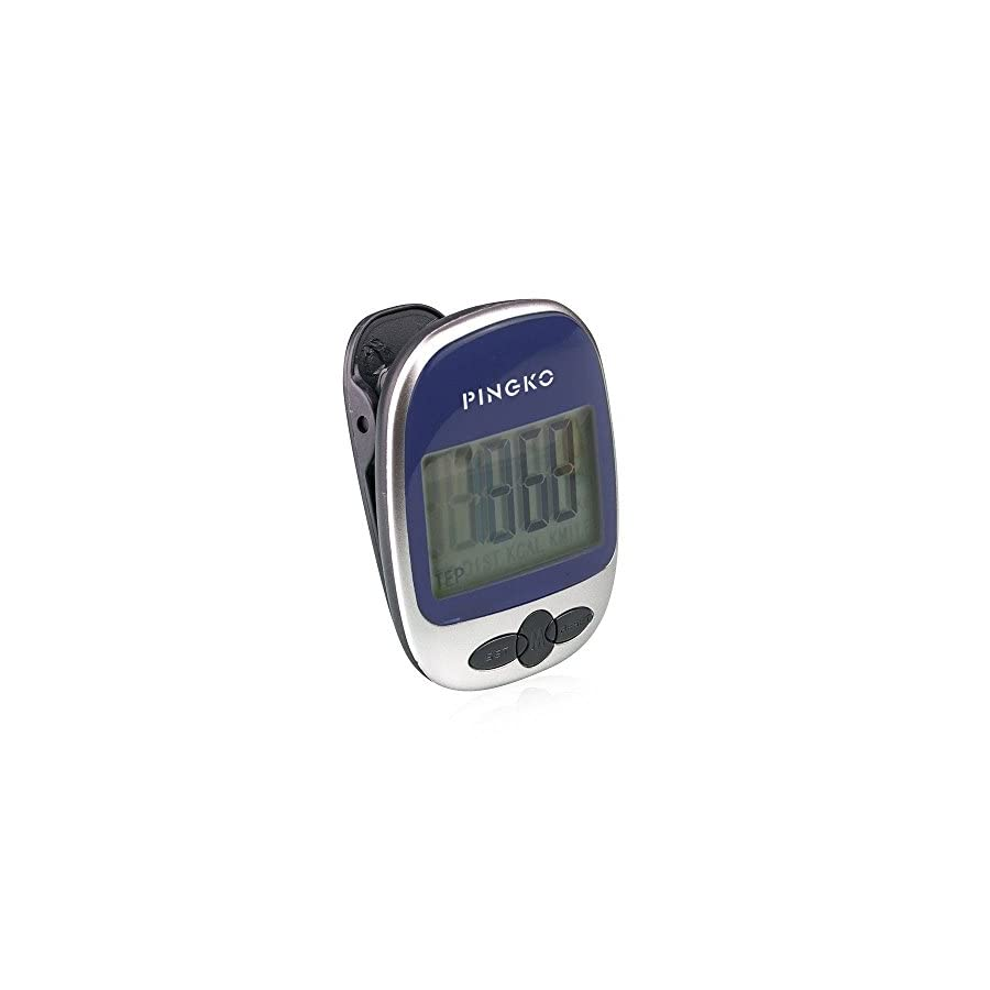 PINGKO Outdoor Multi Function Portable Sport Pedometer Step/Distance/Calories/Counter Blue