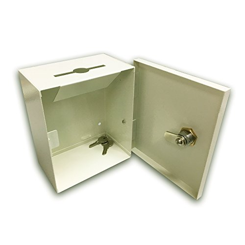 Lock Box With Slot For Documents 5quotx6quotx3quot Wall Mount Key Card Key Drop Box Drop Slot Safe