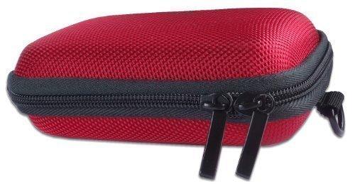 Bundlestar * Hardcase PURE RED S Kameratasche ROT (mit Schultergurt und Gürtelschlaufe) Passende Modelle: Siehe Produktmerkmale