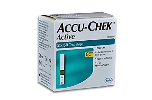 Accu-Chek Active 100 Test Strips with 1 Code Chip (Best Blood Sugar Monitor Device In India)