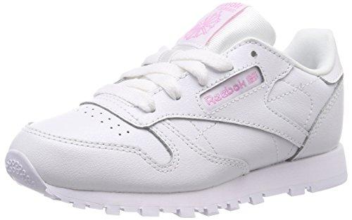 Reebok 000 Metallic De Chaussures Fitness Leather Blanc white Fille Classic rTqwzr