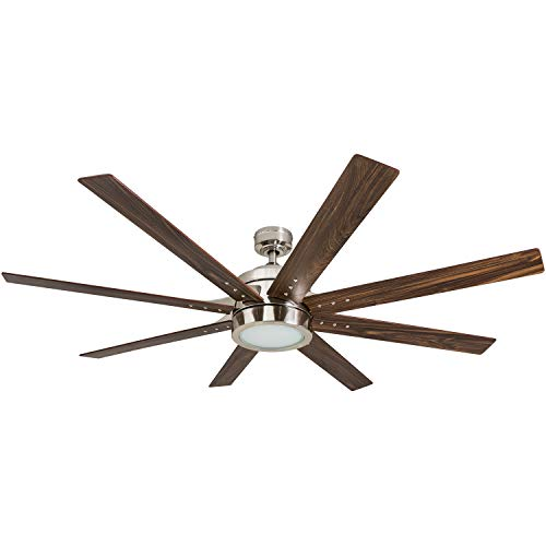Honeywell Ceiling Fans 50608-01 Xerxes Ceiling Fan, 62, Brushed Nickel ()