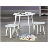 Kids Furniture kids table stools set in white bedroom or playroom furniture