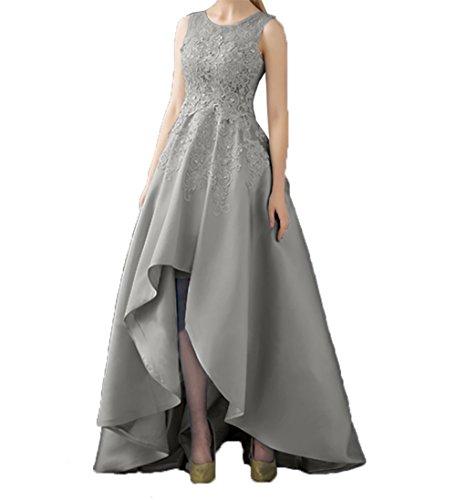 Promkleider Abendkleider lo Partykleider A Abschlussballkleider Kleider Spitze Braut Standsamt Linie Grau Asymettrisch Hi Rock La mia qTxYzz