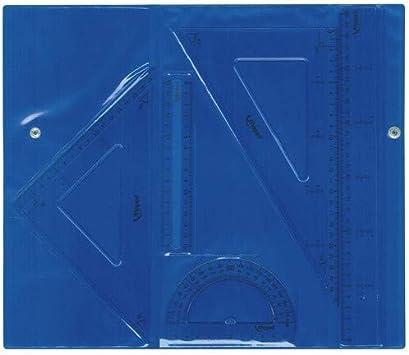 Maped- Juego Broche, 4 Unidades: 2 Reglas, una escuadra y un cartabón, Color Variado (897112): Amazon.es: Juguetes y juegos