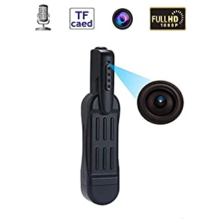 Mini Spy Hidden Camera-Pen Recorder Security Conference - HD 1080P Clip Hidden Cameras Security Meeting Cam Portable Pocket Tiny Video Recorder for Business and Conference