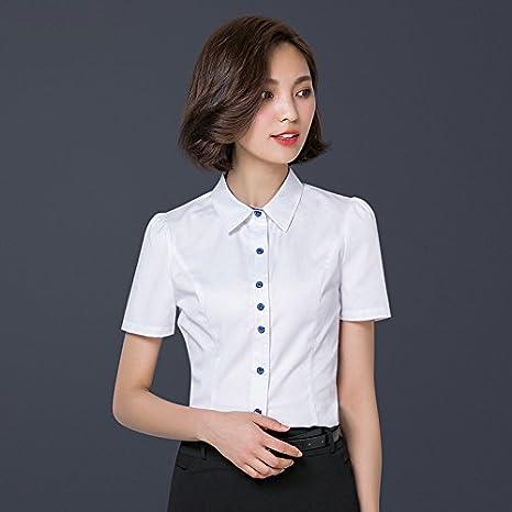 Mayihang Blusa Camisa Arco Dama camisa camisa BLANCA MANGA LARGA ...