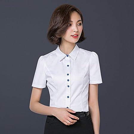 Mayihang Blusa Camisa Arco Dama camisa camisa BLANCA MANGA ...