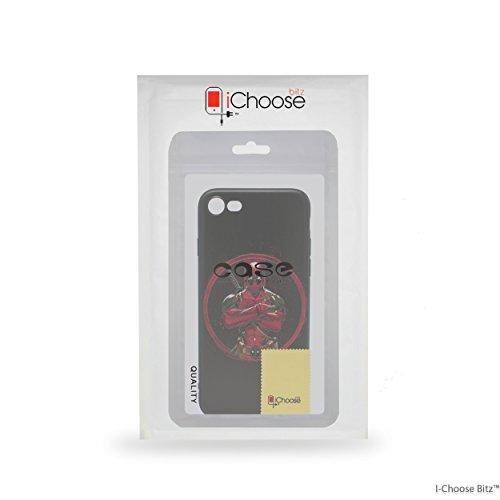 iPhone 5/5s 3D Marvel Estuche de Silicona / Cubierta de Gel para Apple iPhone 5s 5 SE / Protector de Pantalla y Paño / iCHOOSE / Deadpool - Corazón Deadpool - Brazos Cruzados