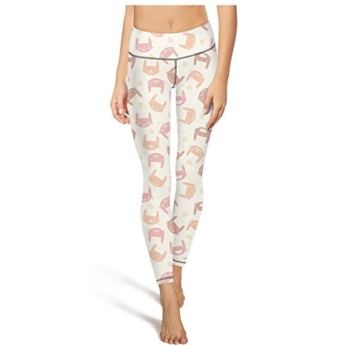 Eoyles gy Woman High Waist Printed Velveteen Rabbit Tights Active Pants for Yoga Leggings