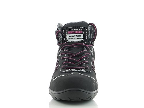 SAFETY JOGGER ISIS Women's Safety Toe Lightweight EH PR Water Resistant Boot, W 6.5, Black